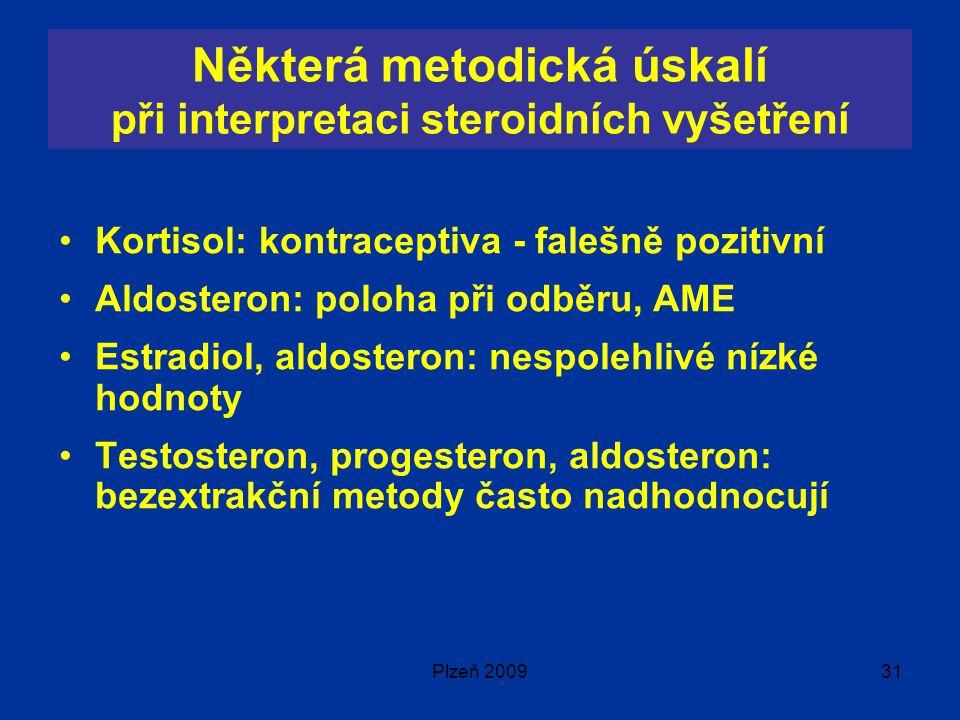 Některá metodická úskalí při interpretaci steroidních vyšetření