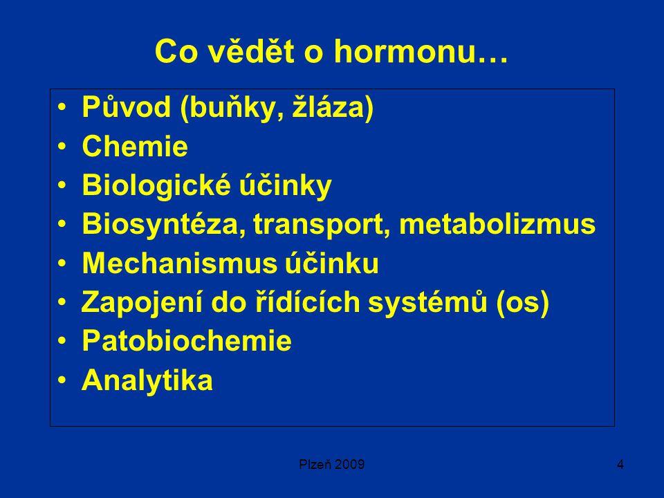 Co vědět o hormonu… Původ (buňky, žláza) Chemie Biologické účinky