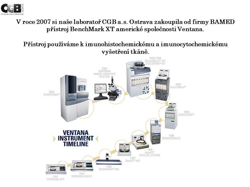 V roce 2007 si naše laboratoř CGB a. s