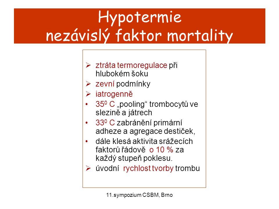Hypotermie nezávislý faktor mortality
