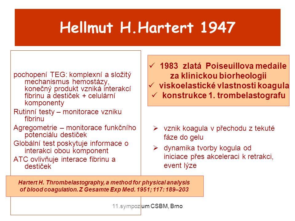 Hellmut H.Hartert 1947 1983 zlatá Poiseuillova medaile