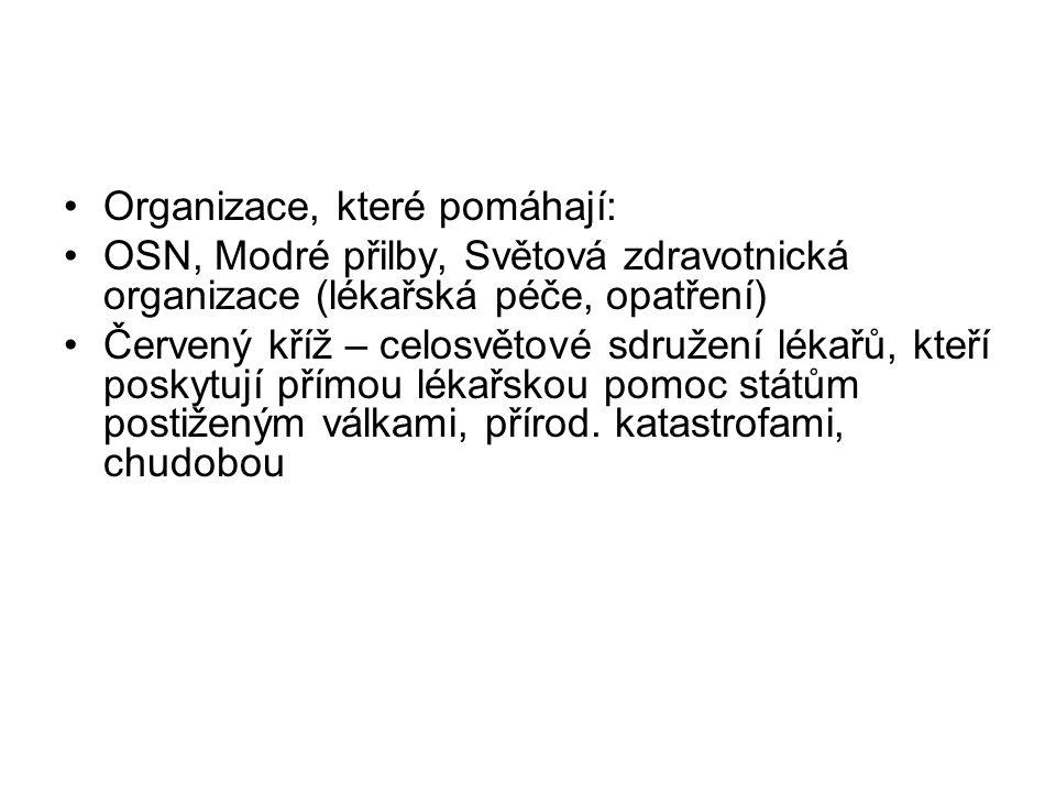Organizace, které pomáhají: