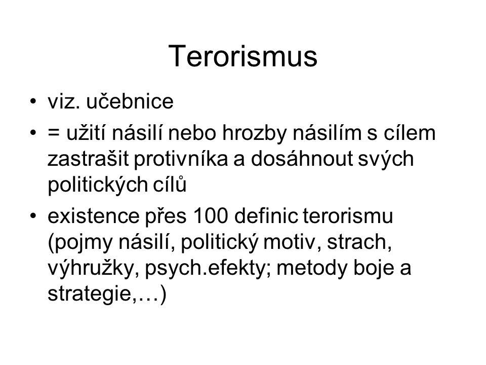 Terorismus viz. učebnice