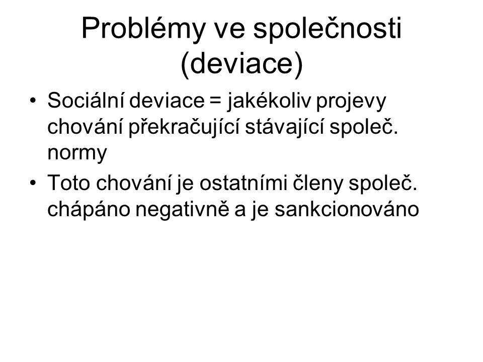 Problémy ve společnosti (deviace)