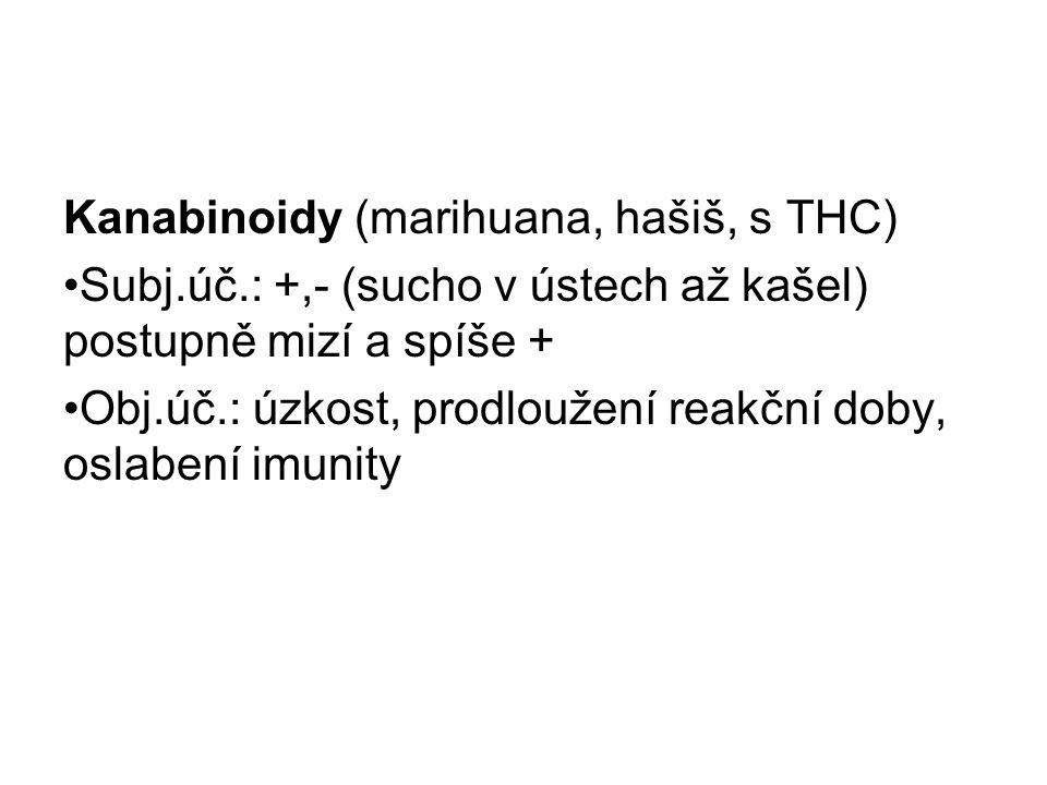 Kanabinoidy (marihuana, hašiš, s THC)
