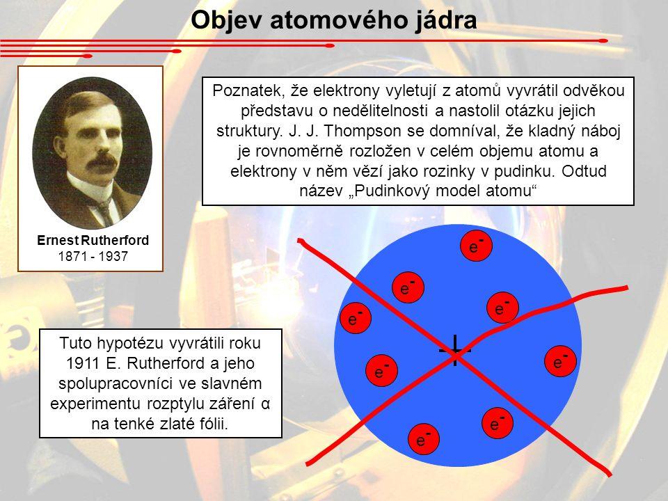 Objev atomového jádra Ernest Rutherford. 1871 - 1937.