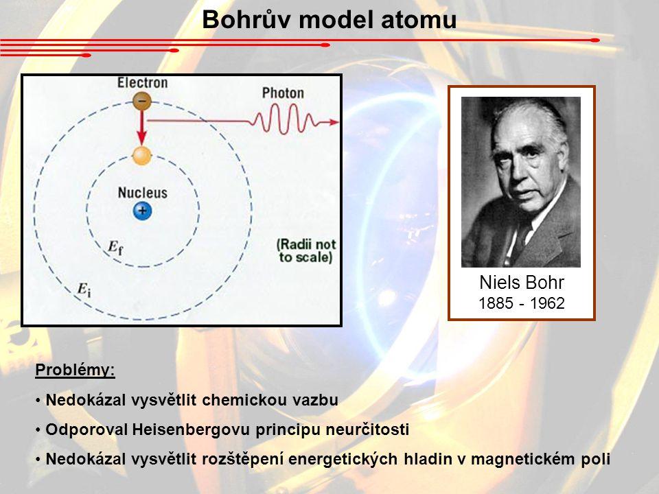 Bohrův model atomu Niels Bohr 1885 - 1962 Problémy: