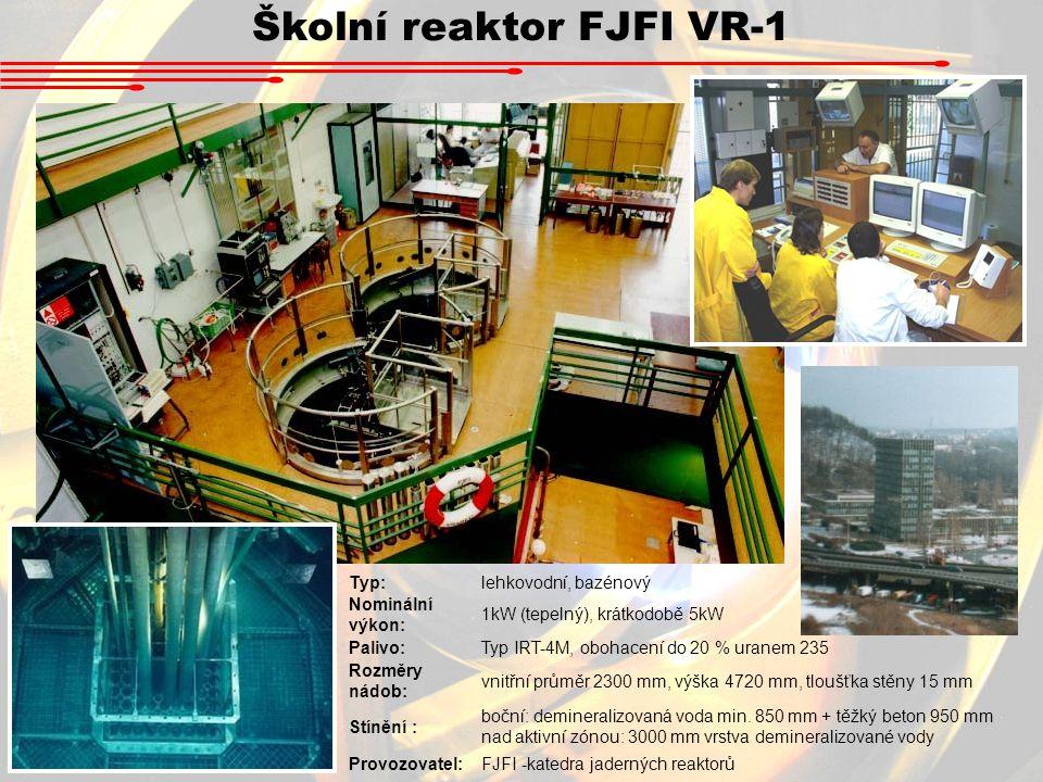 Školní reaktor FJFI VR-1