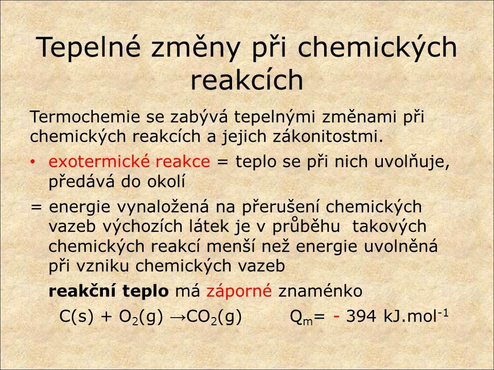 Tepelné změny při chemických reakcích