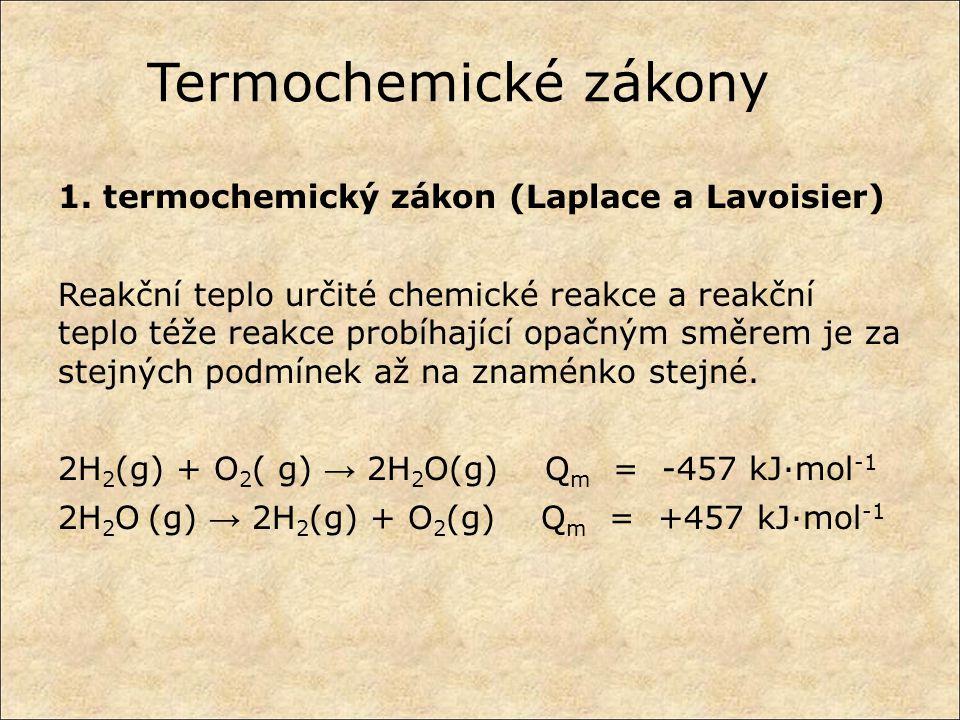 Termochemické zákony