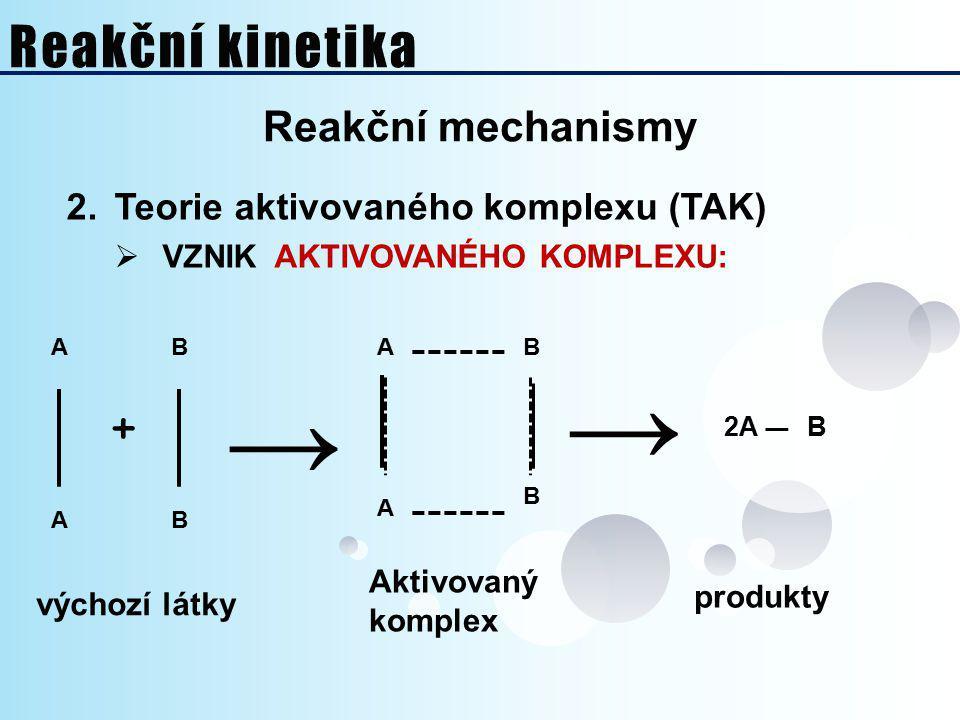→ → Reakční kinetika + Reakční mechanismy