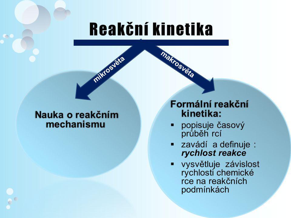 Reakční kinetika Nauka o reakčním mechanismu