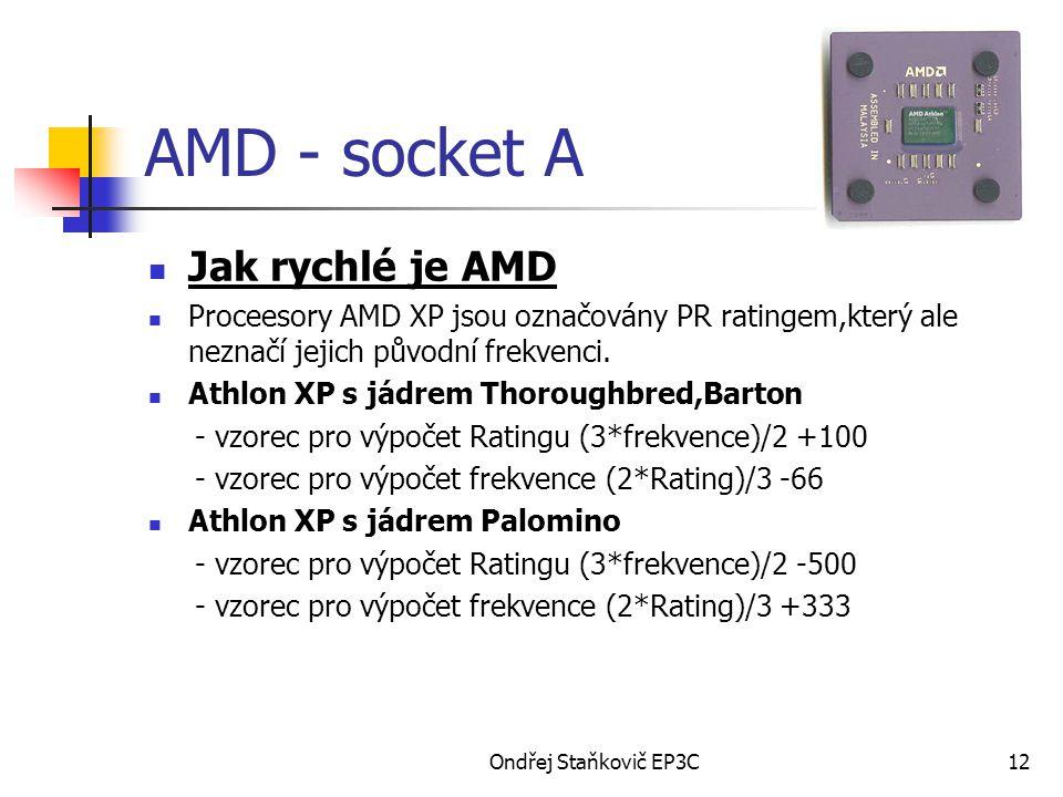 AMD - socket A Jak rychlé je AMD