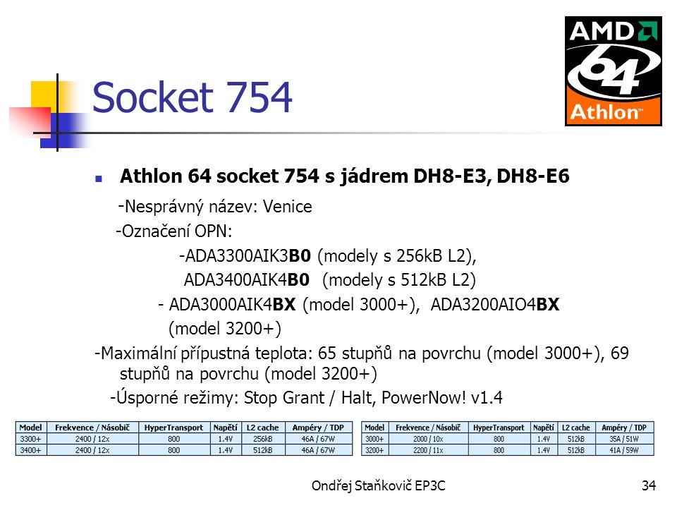 Socket 754 Athlon 64 socket 754 s jádrem DH8-E3, DH8-E6
