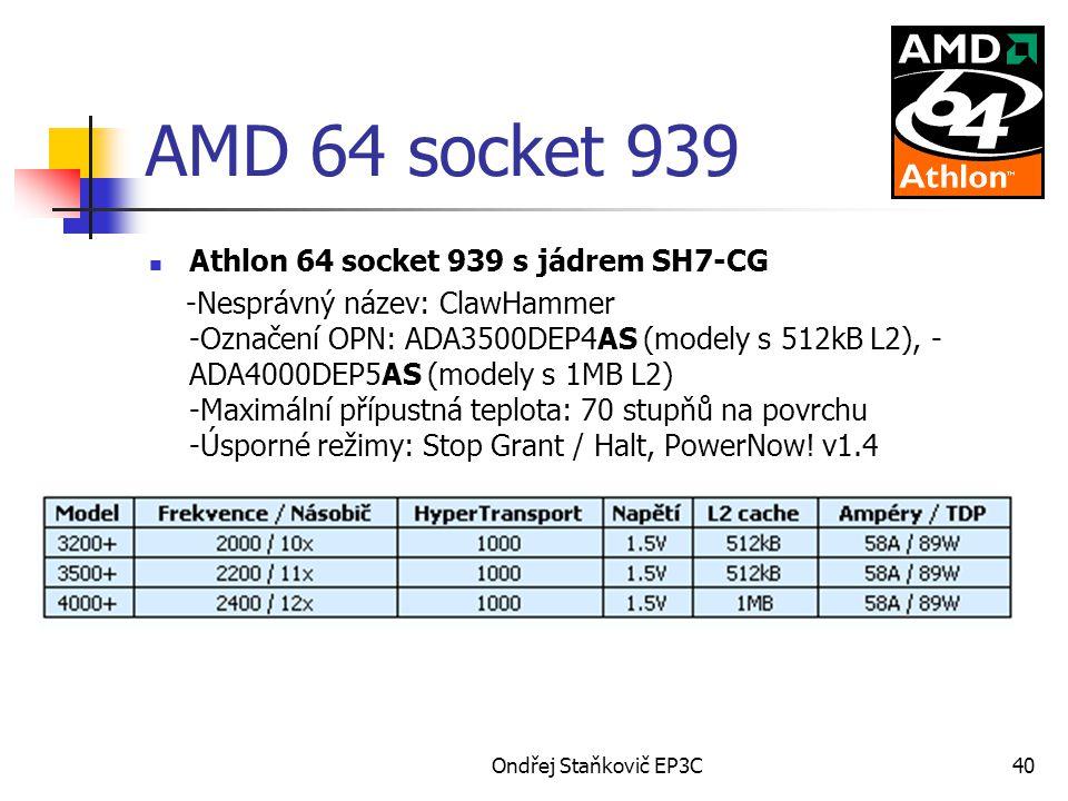 AMD 64 socket 939 Athlon 64 socket 939 s jádrem SH7-CG