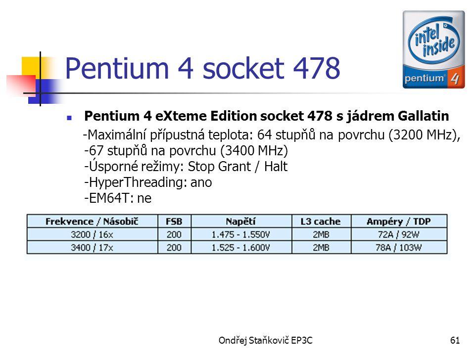 Pentium 4 socket 478 Pentium 4 eXteme Edition socket 478 s jádrem Gallatin.