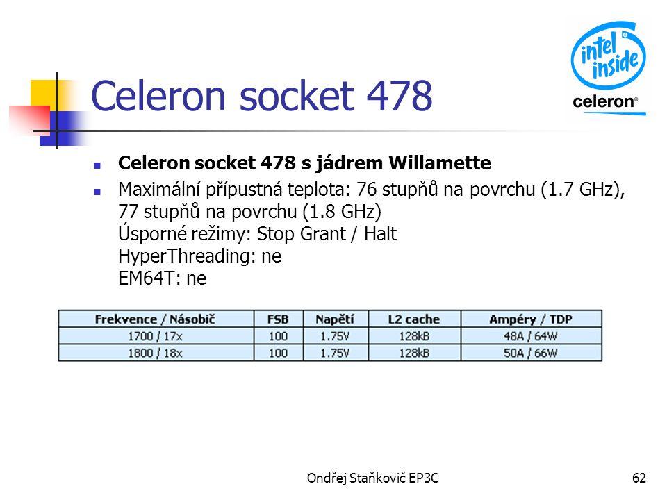 Celeron socket 478 Celeron socket 478 s jádrem Willamette