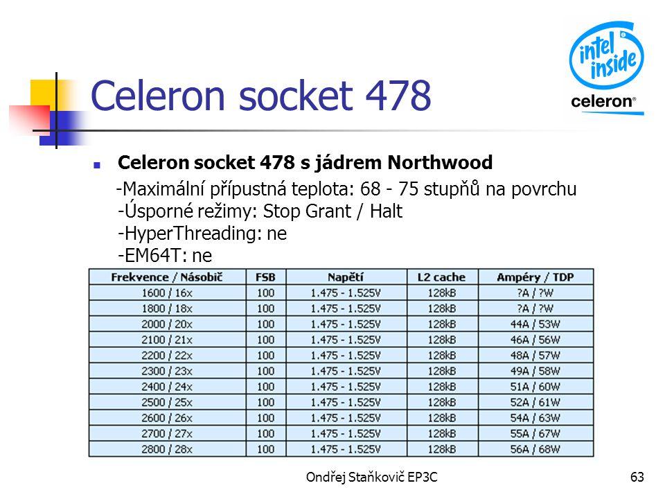 Celeron socket 478 Celeron socket 478 s jádrem Northwood