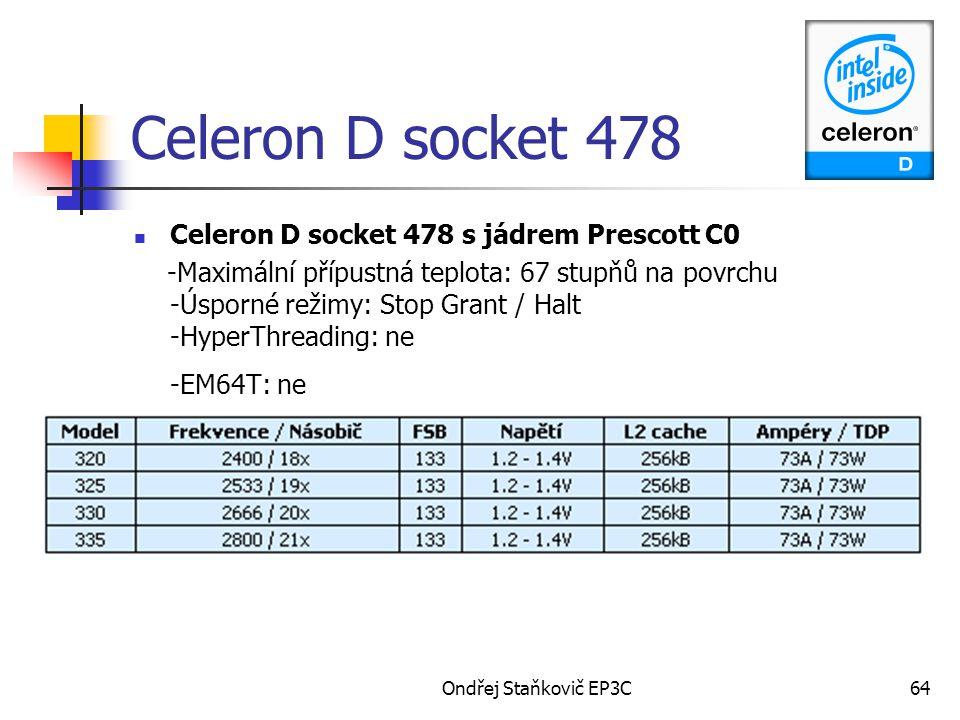Celeron D socket 478 Celeron D socket 478 s jádrem Prescott C0