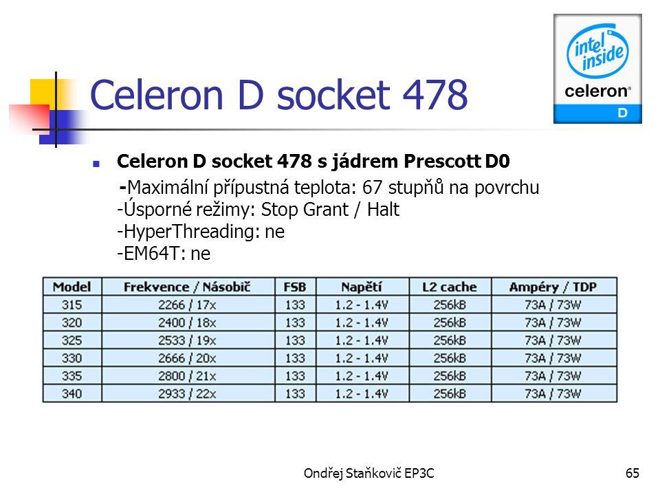 Celeron D socket 478 Celeron D socket 478 s jádrem Prescott D0