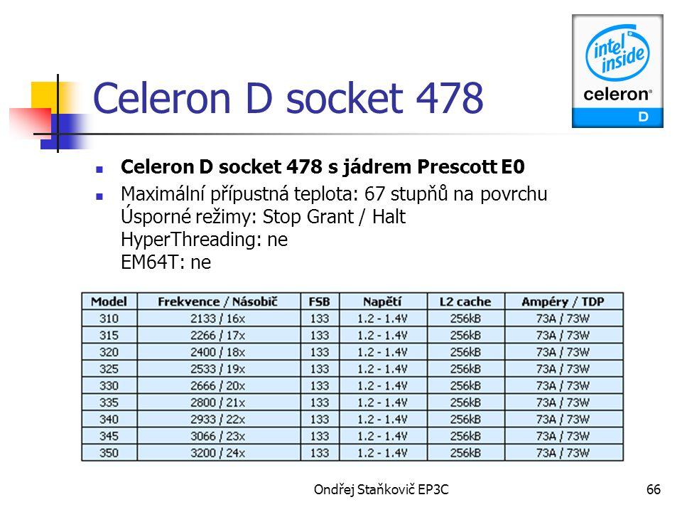 Celeron D socket 478 Celeron D socket 478 s jádrem Prescott E0