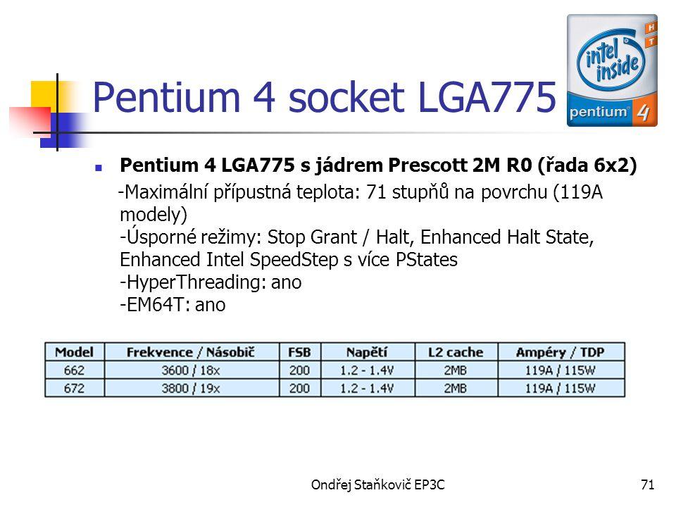 Pentium 4 socket LGA775 Pentium 4 LGA775 s jádrem Prescott 2M R0 (řada 6x2)