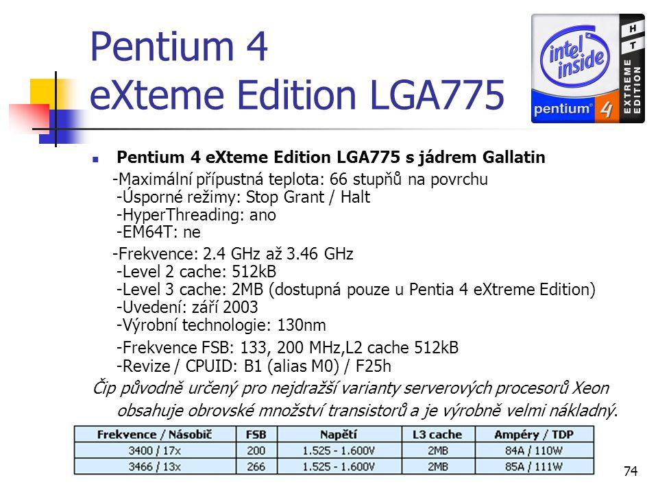 Pentium 4 eXteme Edition LGA775