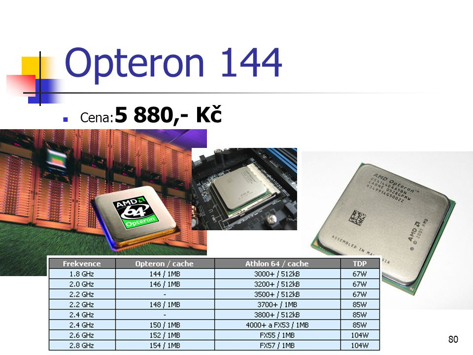 Opteron 144 Cena:5 880,- Kč Ondřej Staňkovič EP3C
