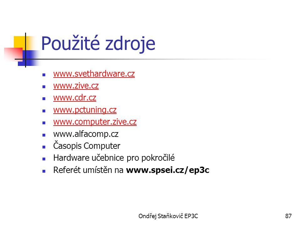 Použité zdroje www.svethardware.cz www.zive.cz www.cdr.cz
