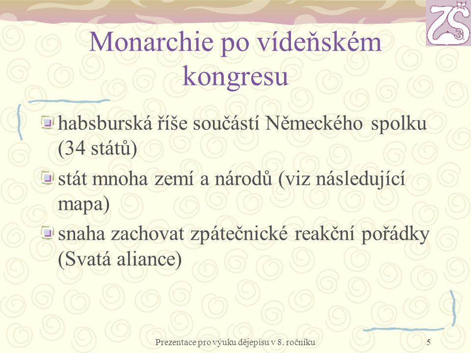 Monarchie po vídeňském kongresu