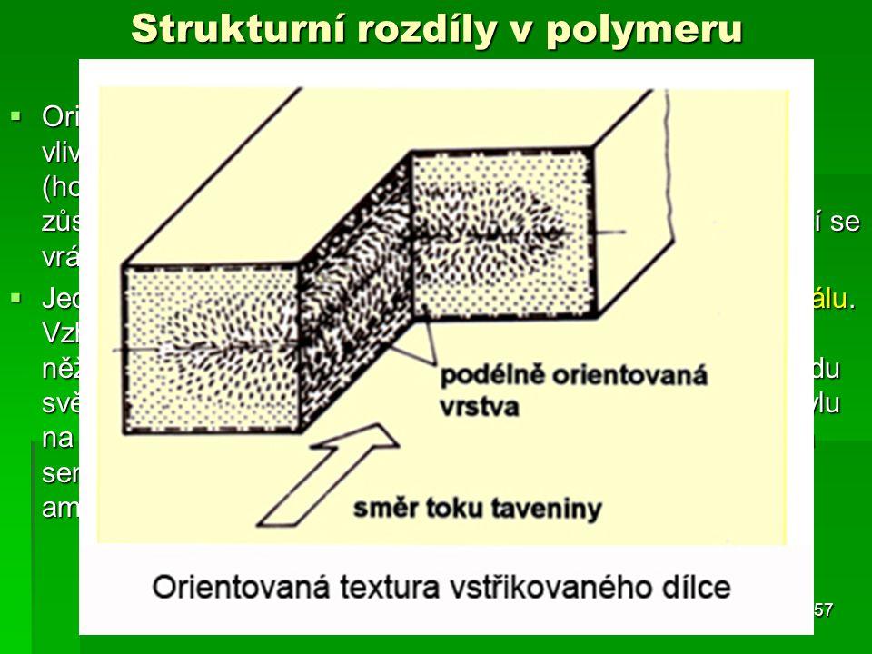 Strukturní rozdíly v polymeru