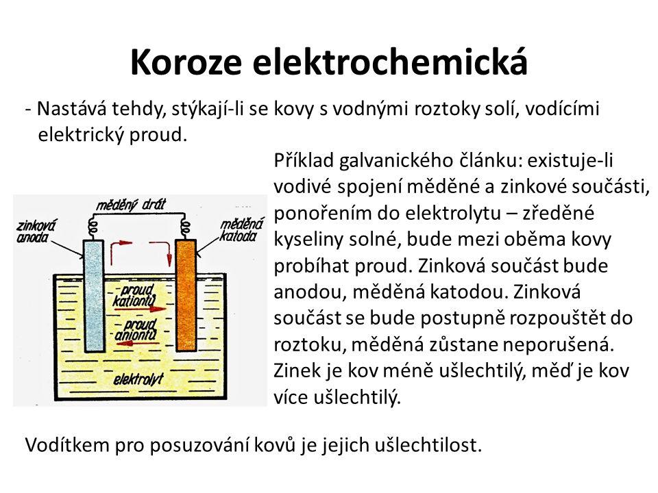 Koroze elektrochemická