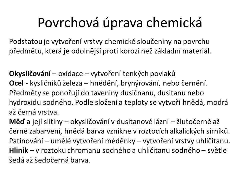 Povrchová úprava chemická