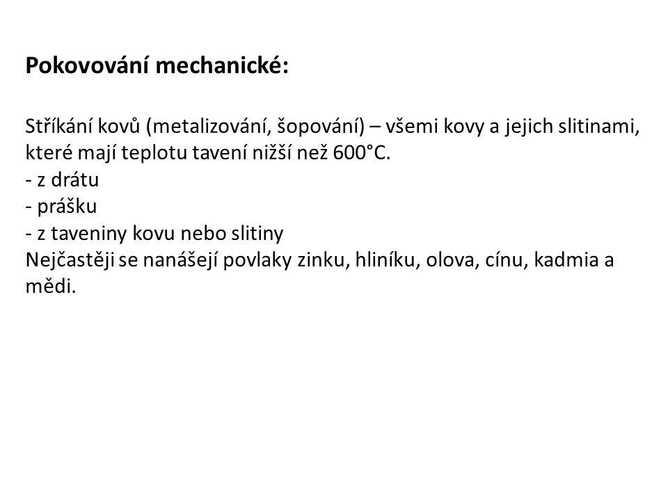 Pokovování mechanické: