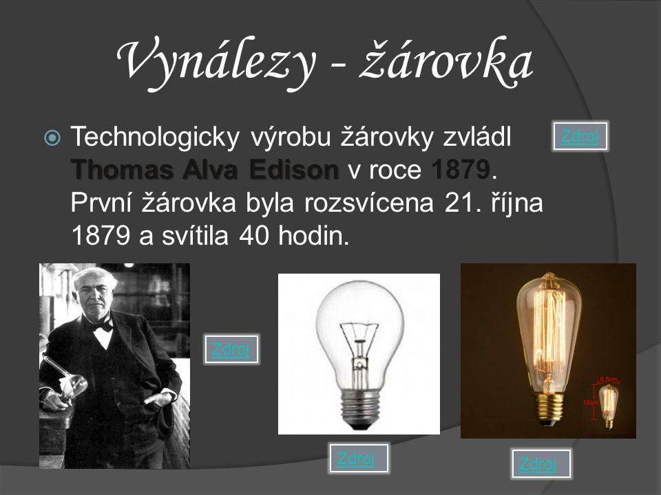 Vynálezy - žárovka
