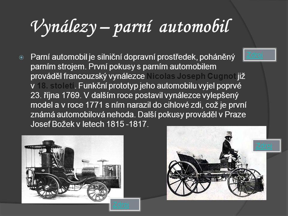 Vynálezy – parní automobil