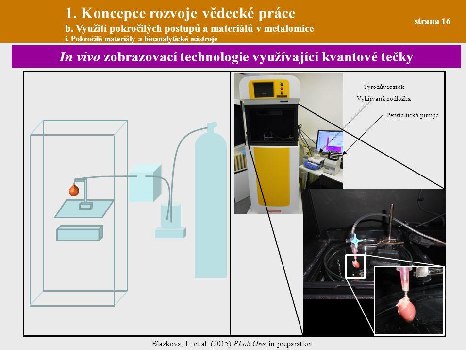 In vivo zobrazovací technologie využívající kvantové tečky