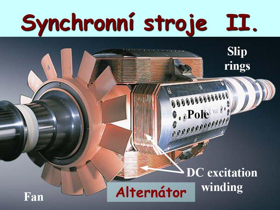 Synchronní stroje II. Alternátor