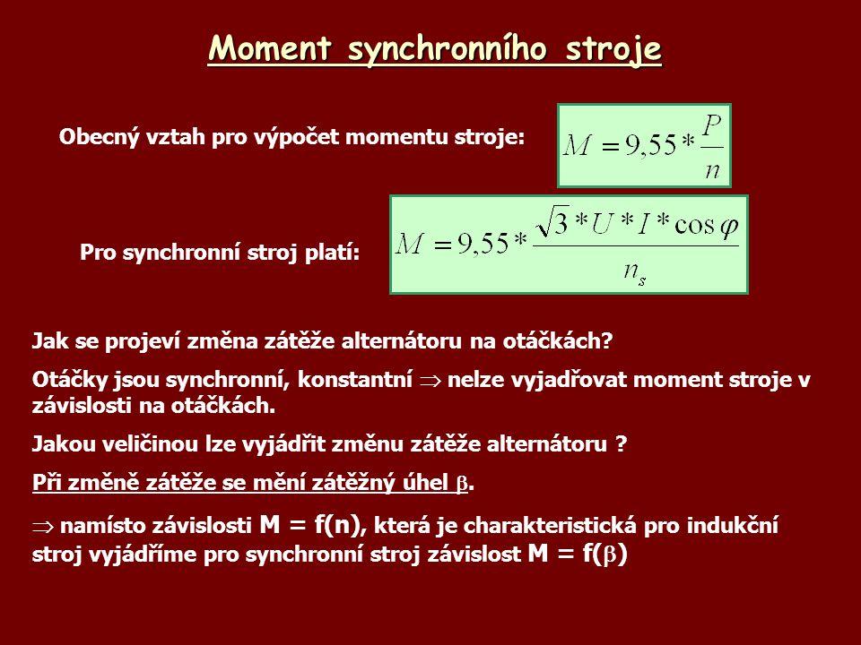 Moment synchronního stroje