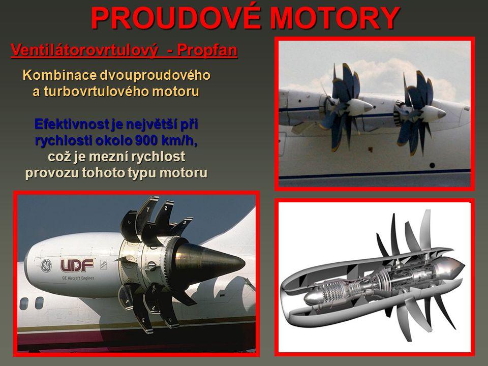 PROUDOVÉ MOTORY Ventilátorovrtulový - Propfan