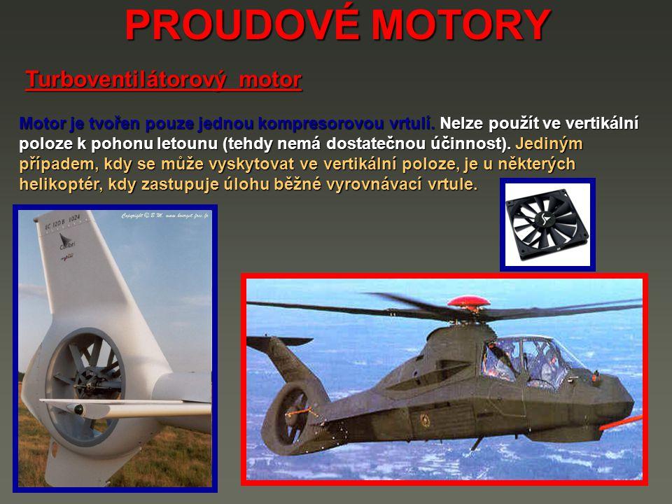 PROUDOVÉ MOTORY Turboventilátorový motor
