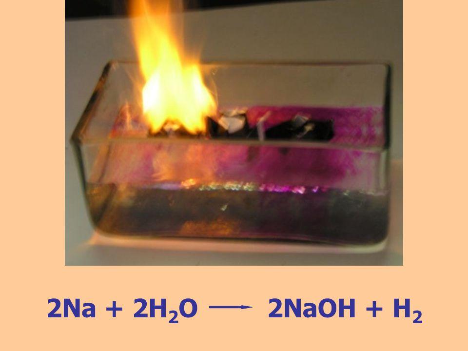 2Na + 2H2O 2NaOH + H2