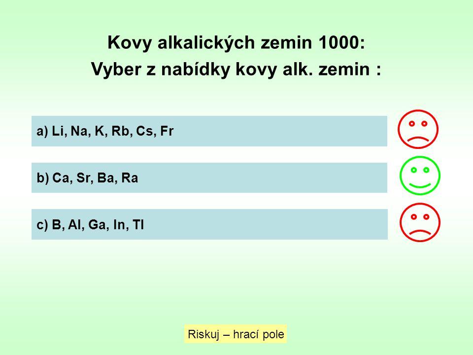 Kovy alkalických zemin 1000: Vyber z nabídky kovy alk. zemin :