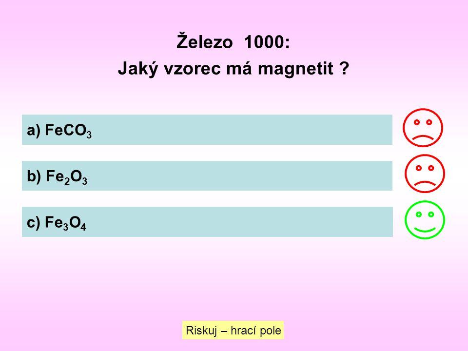 Jaký vzorec má magnetit
