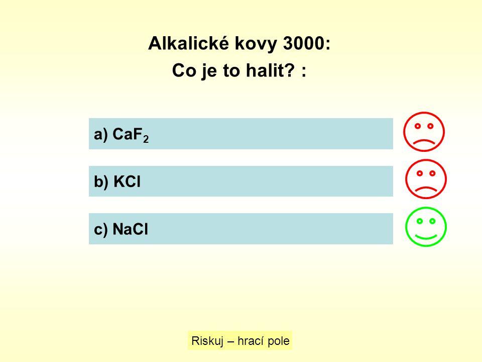 Alkalické kovy 3000: Co je to halit :