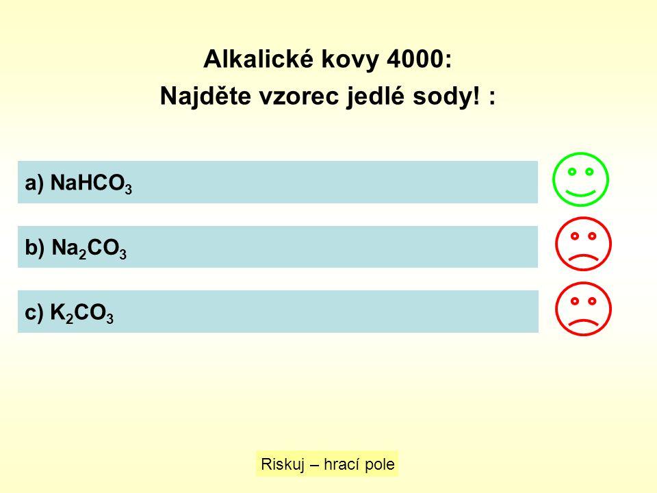Najděte vzorec jedlé sody! :