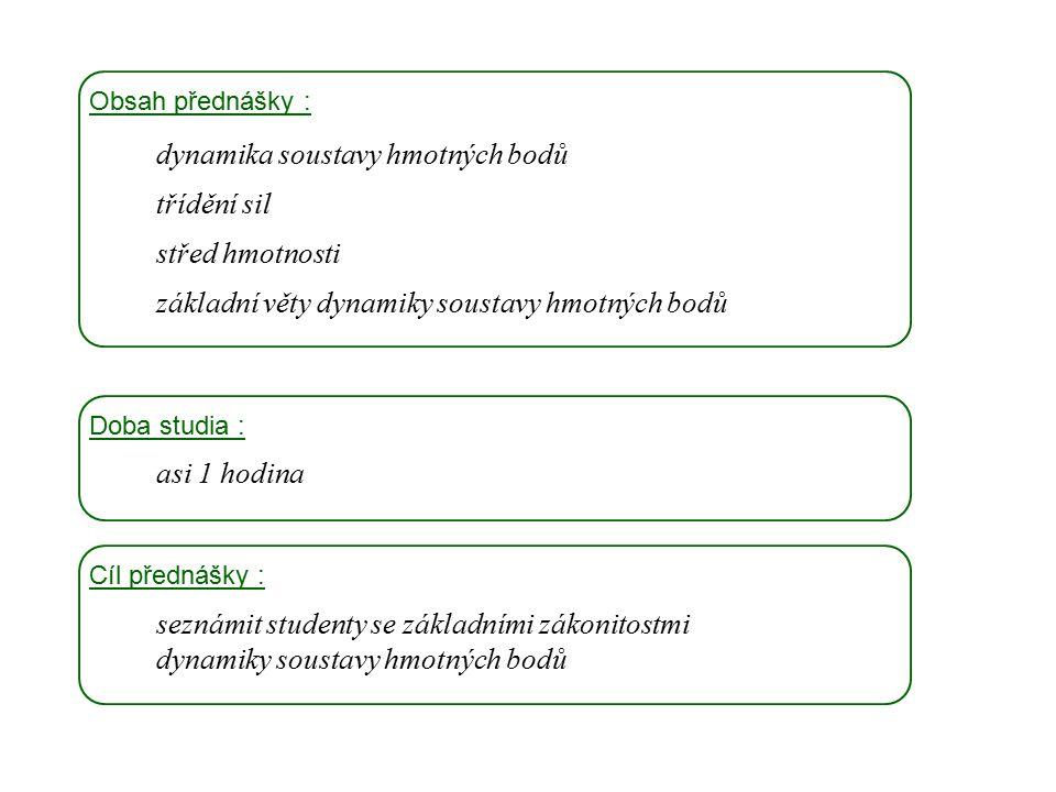 dynamika soustavy hmotných bodů