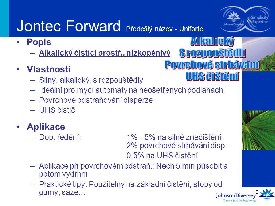 Jontec Forward Předešlý název - Uniforte