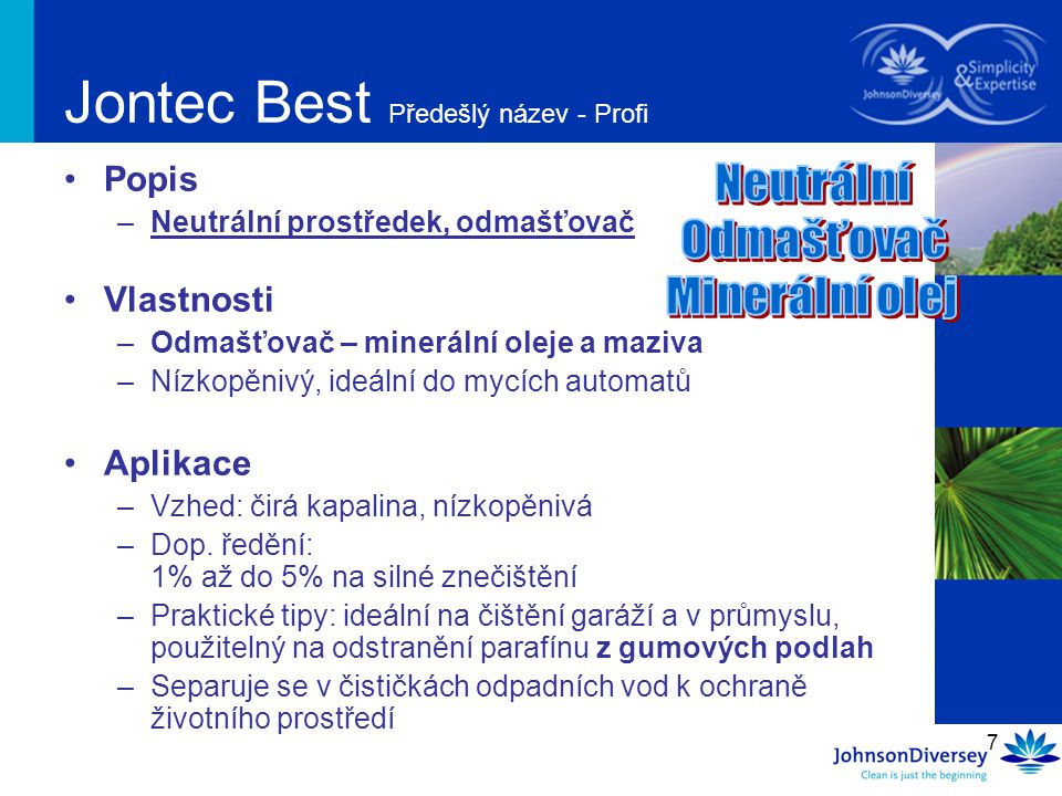 Jontec Best Předešlý název - Profi