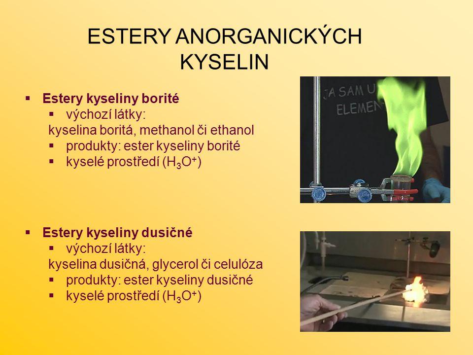 ESTERY ANORGANICKÝCH KYSELIN